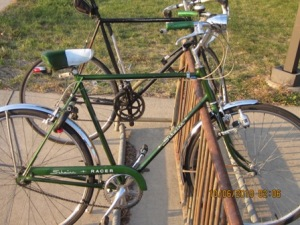 green schwinn racer beautiful