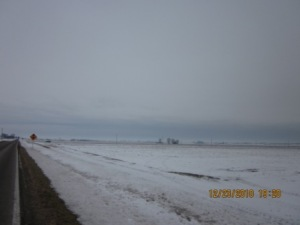 oncoming snow sky