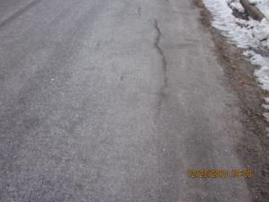 salty road before snow